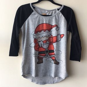 🎈Santa Claus dabbing Baseball Tee black/grey